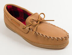 Minnetonka Genuine Moose with Fleece Lining Moccasins, , hi-res