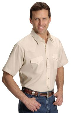Ely Solid Classic Western Shirt - Big/Tall - Custom Fit, Neck Sizing, , hi-res