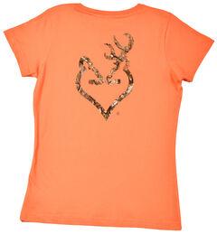 Browning Women's Orange Mo Country Buckmark T-Shirt , , hi-res