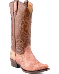 Roper Rust Teju Lizard Print Cowgirl Boots - Snip Toe , , hi-res
