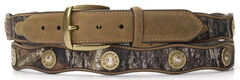 Nocona Scalloped Mossy Oak Bullet Concho Belt - Large, , hi-res