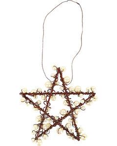 BB Ranch Metal Wire & Pearl Star Ornament, , hi-res