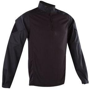 Tru-Spec Men's Navy Urban Force 1/4 Zip TRU Shirt , Black, hi-res