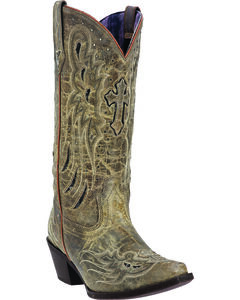Laredo Women's Crosswing Studded Cowgirl Boots - Snip Toe, , hi-res