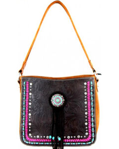 Montana West Concho Collection Hobo Bag, , hi-res