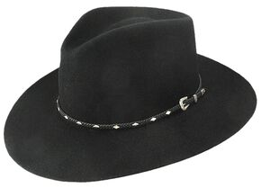 Stetson 4X Diamond Jim Fur Felt Cowboy Hat, Black, hi-res