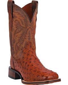 Dan Post Men's Alamosa Full Quill Ostrich Western Boots - Square Toe, , hi-res
