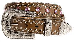 Blazin Roxx Pink Bling Belt, , hi-res