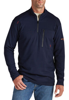 Ariat Flame Resistant Quarter Zip Long Sleeve Shirt, , hi-res