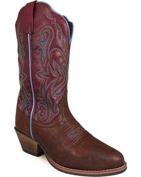 Smoky Mountain Women's Altoona Western Boots - Medium Toe , Brown, hi-res