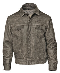 STS Ranchwear Men's Maverick Rustic Black Leather Jacket - 4XL, , hi-res