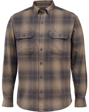 Wolverine Men's Redwood Heavyweight Flannel Shirt , Dark Grey, hi-res