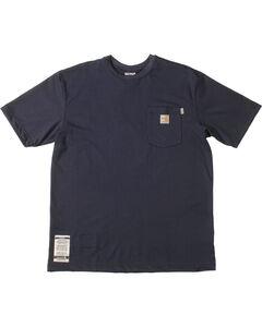 Carhartt Short Sleeve Navy Blue Pocket Fire Resistant Work T-Shirt, , hi-res