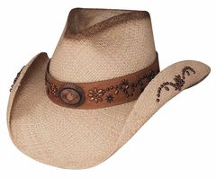 Bullhide More Than A Memory Panama Straw Cowgirl Hat, , hi-res
