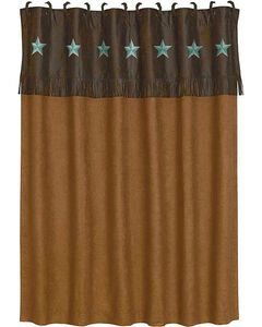 HiEnd Accents Turquoise Laredo Shower Curtain, , hi-res