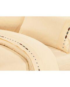 HiEnd Accents Navajo Embroidered Cream Sheet Set - Queen, , hi-res