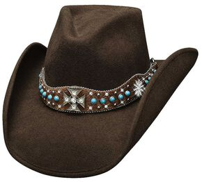 Bullhide In My Dreams Wool Cowgirl Hat, Chocolate, hi-res