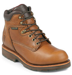 """Chippewa Waterproof 6"""" Lace-Up Work Boots - Round Toe, , hi-res"""