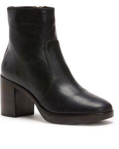 Frye Women's Black Joan Campus Short Boots - Round Toe, Black, hi-res
