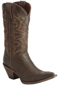 Durango Rock N' Scroll Cowgirl Boots, Brown, hi-res