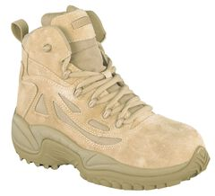"""Reebok Men's Stealth 6"""" Lace-Up with Side-Zip Tactical Work Boots - Composite Toe, , hi-res"""