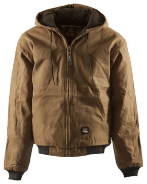 Berne Duck Original Hooded Jacket - XLT and 2XT, Brown, hi-res