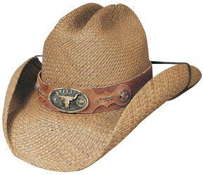 Bullhide True Grit Panama Straw Cowboy Hat, Natural, hi-res
