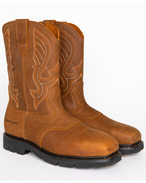Cody James Men's Western Work Boots - Steel Toe, Brown, hi-res