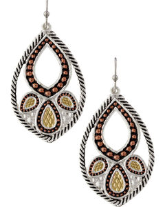 Montana Silversmiths Twisted Rope Paisley Earrings, , hi-res