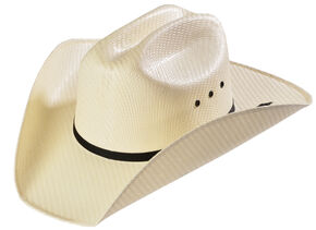 M&F Western Kids' Natural Sancho Straw Cowboy Hat, Natural, hi-res