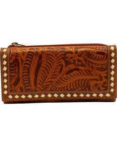 Blazin Roxx Women's Floral Tooled Wallet, , hi-res