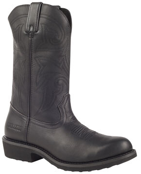 Durango Farm and Ranch Black Western Boots - Round Toe, Black, hi-res