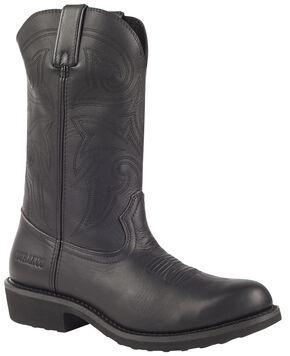 Durango Farm and Ranch Black Western Boots - Round Toe, Black, hi-res