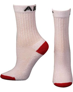 Ariat Youth Crew Socks - 3 Pack, White, hi-res