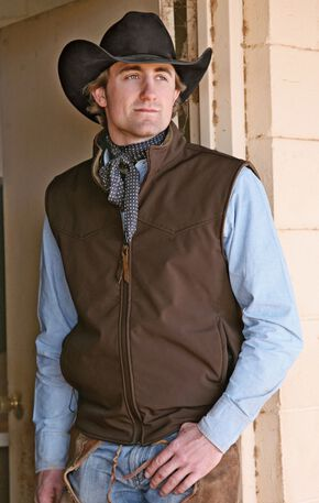 STS Ranchwear Men's Ewing Reversible Brown Vest - Big & Tall - 4XL, Brown, hi-res
