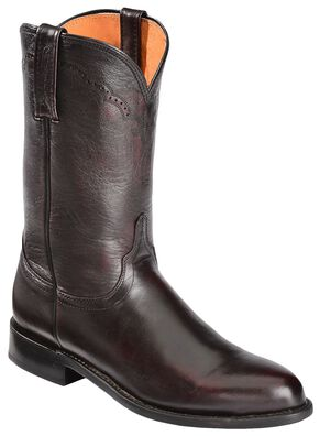 Lucchese Handcrafted 1883 Lonestar Calf Roper Boots - Round Toe, Black Cherry, hi-res
