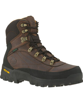 Georgia Crossridge Waterproof Hiker Boots - Round Toe, Dark Brown, hi-res