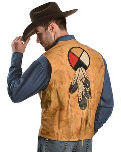 Kobler Circle of Life Leather Vest, , hi-res