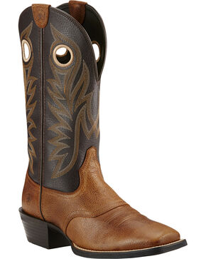 Ariat Desert Palm Sport Outrider Cowboy Boots - Square Toe , Copper, hi-res