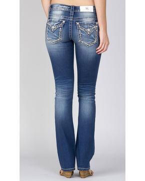 Miss Me Women's Indigo Embroidered Pocket Slim Fit Jeans - Boot Cut, Indigo, hi-res