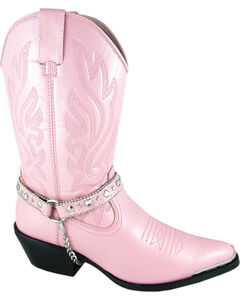 Smoky Mountain Charlotte Pink Harness Cowgirl Boots - Pointed Toe, , hi-res