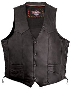 Milwaukee Motorcycle Classic Leather Vest - XL, , hi-res