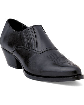 Durango Women's Black Western Shoe Boots, Black, hi-res