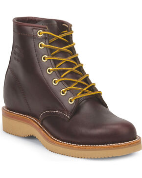 "Chippewa Women's Wine 6"" Lace Up Boots - Round Toe, Burgundy, hi-res"