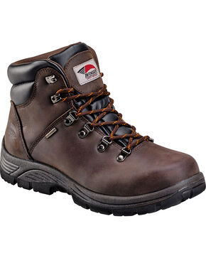 Avenger Men's Brown Waterproof Hiker EH Work Boots - Round Toe, Brown, hi-res