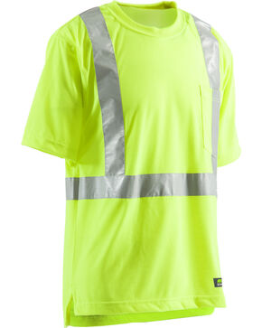 Berne Hi-Visibility Short Sleeve Pocket T-Shirt, Yellow, hi-res