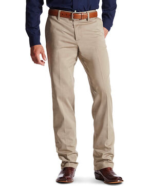 Ariat Men's M2 Performance Khaki Relaxed Fit Pants - Boot Cut, Tan, hi-res