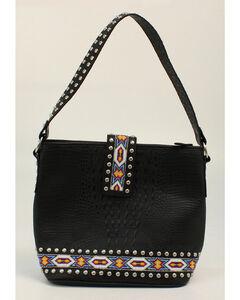 Blazin Roxx Bead Ribbon Black Shoulder Bag, , hi-res