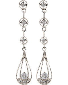Montana Silversmiths Women's Three Tiered Raindrop Earrings, , hi-res