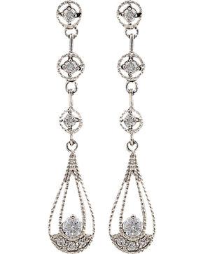 Montana Silversmiths Women's Three Tiered Raindrop Earrings, Silver, hi-res